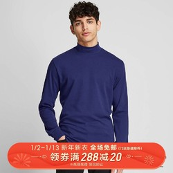 男装 柔软高领T恤(长袖) 418698