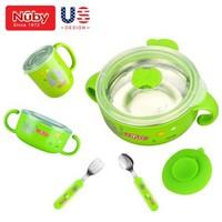 努比(Nuby)儿童保温餐具套装 9件套 +凑单品