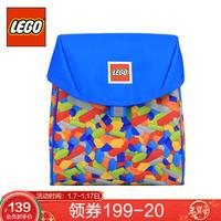 LEGO乐高 儿童小背包3-5岁宝宝双肩包幼儿园休闲翻盖书包轻便男女 蓝色 20126