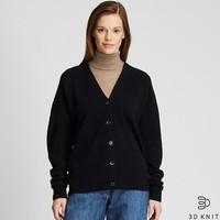 女装  3D柔软羊仔毛茧形针织开衫(长袖) 420305