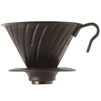 HARIO V60 金属 咖啡滤杯 1~4杯用 亚光黑 9.0×14.5×12.0cm VDM-02-MB