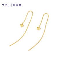 TSL 谢瑞麟 18K金玫瑰金 耳线 AG306 *10件