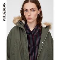 PULL&BEAR 09716202 女士中长款派克外套