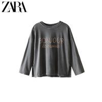 ZARA 新款 童装女童  印字T恤 01405601807