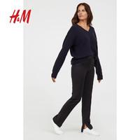 H&M 0684675 女装羊毛混纺高腰西裤