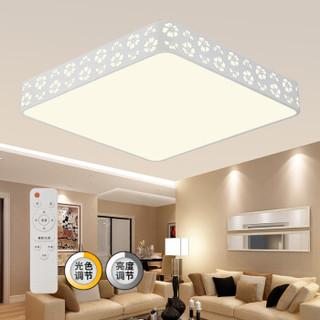 京东PLUS会员 : HAIDE 海德照明 雪花 LED客厅吸顶灯 55W 方形