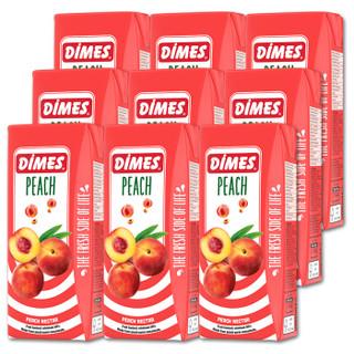 土耳其进口饮料果汁 迪美汁(DIMES) 桃汁果味饮料200ml*9量贩分享装 *7件