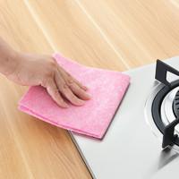 椰壳抹布家务清洁厨房家用品吸水不掉毛加厚不沾油百洁布洗碗巾