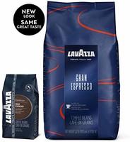 Lavazza Gran Espresso 优质意式浓咖啡全豆混合咖啡 2.2 磅袋装
