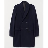 H&M 0635517 羊毛混纺双排扣大衣