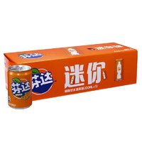 芬达 Fanta 橙味 汽水饮料 碳酸饮料 橙汁 迷你摩登罐 200ml*12罐*2组装 整箱装 可口可乐出品