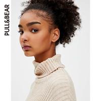 PULL&BEAR 09558374 糖果色高领毛衣女高领罗纹针织衫
