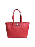 VERSACE JEANS范思哲 奢侈品 新款女士红色聚酯纤维搭扣装饰单肩包E1VSBBF7 70711 331