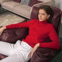 ERDOS 鄂尔多斯 女式羊绒高领基础套衫 红色 S
