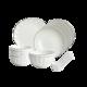 白金线骨瓷餐具16件套 19.5元