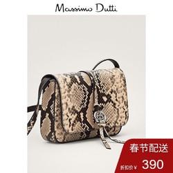 Massimo Dutti  06909607710 蛇纹外层皮革斜挎包时尚单肩小包