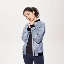 斯凯奇女装新款DLT-A薄款棒球外套 印花茄克