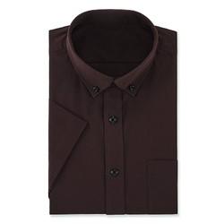 凡客衬衫 易打理 领尖扣 短袖 男款 桃木红