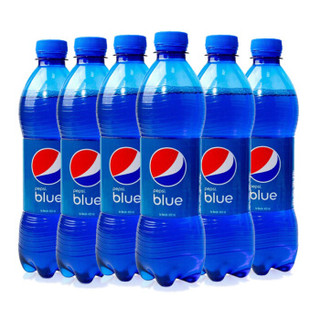 巴厘岛原装进口 百事可乐(Pepsi) blue 蓝色可乐网红可乐汽水饮料 450ml*6瓶装