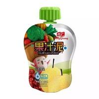 方广 宝宝辅食 红枣雪梨果汁泥103g/袋装 *4件