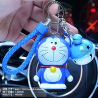 卡通情侣钥匙扣汽车铃铛小挂件可爱包包钥匙圈