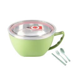 304不锈钢泡面碗带盖单个宿舍学生饭盒上班族易清洗大号保温饭碗