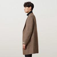 美特斯邦威大衣男秋冬韩版新款潮流简约时尚长款毛呢大衣外套