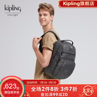 Kipling 凯浦林 TROY 男女款大容量帆布双肩背包 *3件