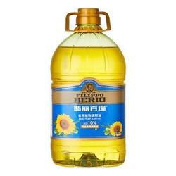 翡丽百瑞 食用植物调和油4L (90%的葵花籽油+10%特级初榨橄榄油) *2件