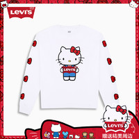 Levi's x Hello Kitty 76171-0006 联名女士新款图案印花长袖T恤