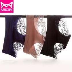 Miiow 猫人 WDKX3107 中腰贴身蕾丝三角裤三条装 *2件
