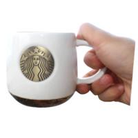 STARBUCKS 星巴克 杯子 新款 2019 咖啡杯 礼盒装 414ML 经典铜章白色款盒装