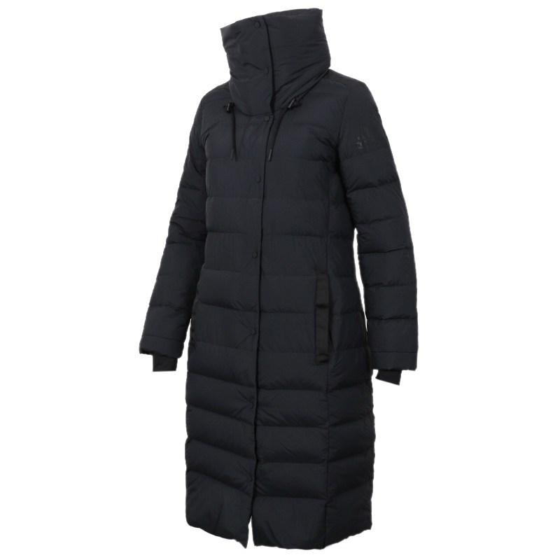 阿迪达斯(adidas)冬季女士运动保暖长款休闲羽绒服外套CY8614