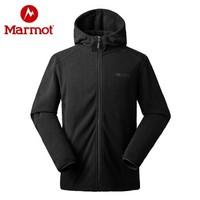 10号:Marmot 土拨鼠 V83847 男士长袖抓绒连帽开衫