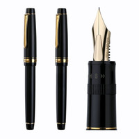 PILOT 百乐 FJ-3MR Justus95 钢笔 14K金笔 礼盒装 可调节笔尖 黑色格纹 FM