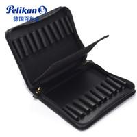 Pelikan 百利金 牛皮钢笔袋 TGX20 黑色款 大容量二十支装钢笔皮套