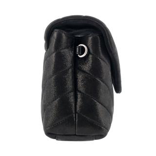SAINT LAURENT 圣罗兰 LouLou系列 女士时尚Y形绗缝牛皮单肩斜挎包 黑色