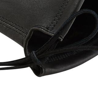 STUART WEITZMAN 斯图尔特·韦茨曼 女士黑色皮革平底过膝高筒靴 LOWLAND BLACK STR NAPPA 38