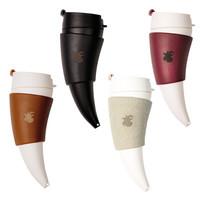 GOAT MUG 咖啡杯 羊角杯 棕色/350/真皮