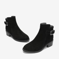 BASTO 百思图 RBQ45DD8 女鞋圆头方跟侧拉链休闲短靴