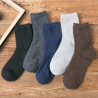 卡·同 男士羊毛中筒袜 5双