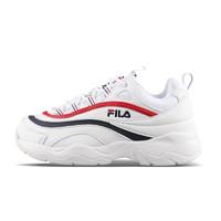 FILA 斐乐 RAY系列 系带 跑鞋 FSISIA1167X 白色红蓝条 230