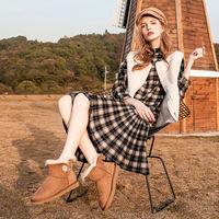 KEENZIE 经典防泼水木扣雪地靴/女靴  K573 多色多尺码可选 36 栗色