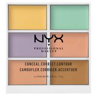 银联专享:NYX Professional Makeup 6色修容遮瑕盘 *3件