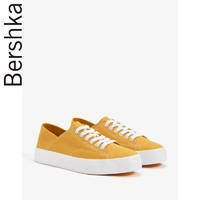 Bershka女鞋2019新款黄色懒人鞋休闲两用一脚蹬平底鞋15961031124