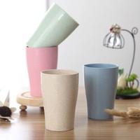 厨の小屋 小麦秸秆水杯 3个装