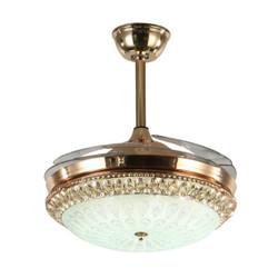 飞稳  隐形吊扇灯LED水晶风扇灯 斜口_42寸三色变光36W 遥控 变频 *3件