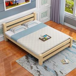 琪川家居 实木床 松木床 成人床 双人床 单人床 1.2米 1.35米 1.5米 简约现代 经济型(无漆带床垫 200*150)