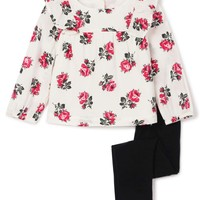 Gap 盖璞 婴儿 花卉印花圆领长袖套装