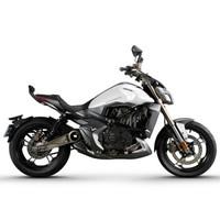 升仕ZONTES 2019新款310V ABS国四碟刹单缸水冷电喷310cc摩托车 深灰亮白